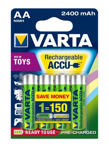 4ks Varta Toys Accu AA Ready2Use NiMH 2400 mAh Mignon