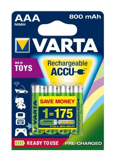 4ks Varta Toys Accu AAA Ready2Use NiMH 800 mAh Micro
