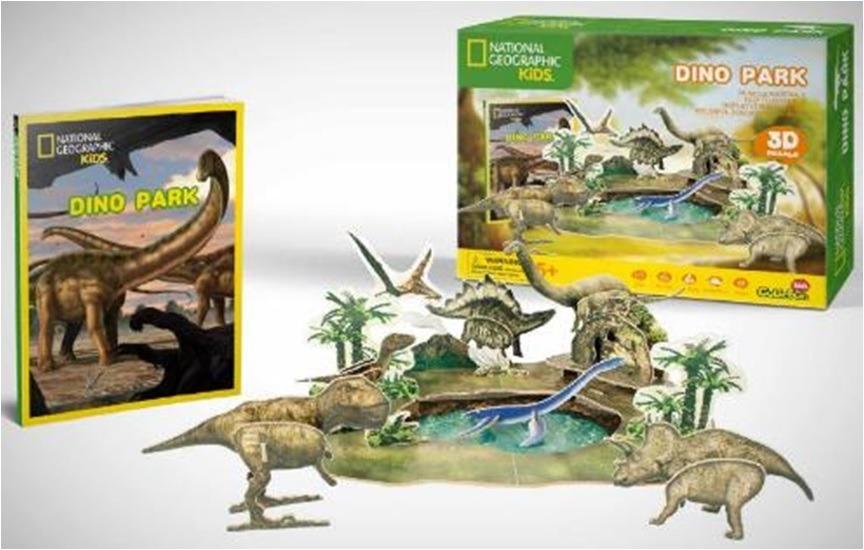 Puzzle 3D Dino park NG- 43 dílků