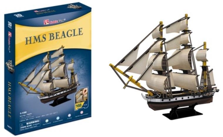 Puzzle 3D HMS Beagle -168 dílků