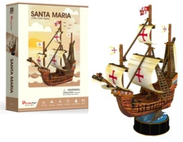 Puzzle 3D Santa Maria - 93 dílů