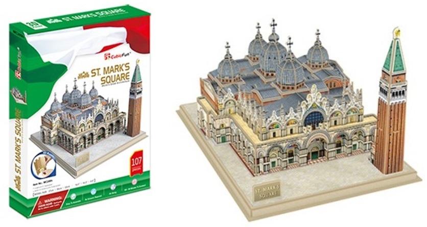 Puzzle 3D Náměstí sv. Marka - 107 dílků