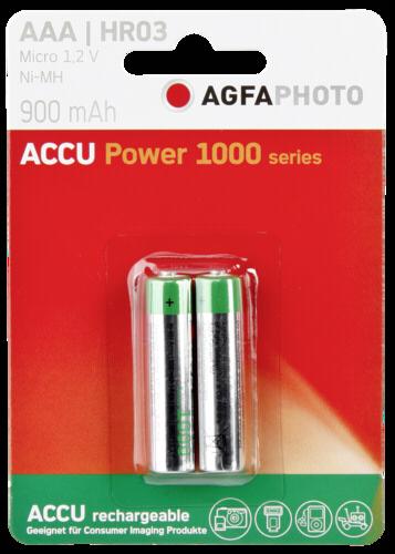 1x2 AgfaPhoto Akku NiMh Micro AAA 900 mAh