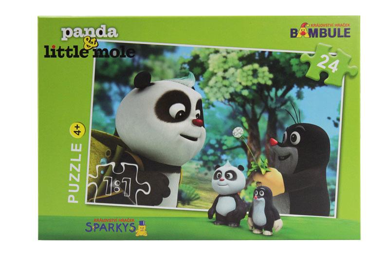 Puzzle Krtek a Panda 24 dílků