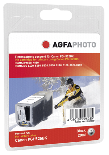AgfaPhoto PGI-525 BK black with chip