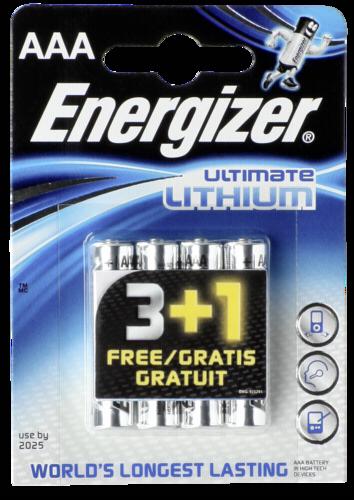 3+1 Energizer Lithium Micro AAA vyhodne baleni