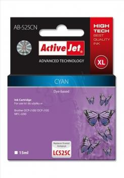 Ink ActiveJet AB-525CN | Cyan | 15 ml | Brother LC525C