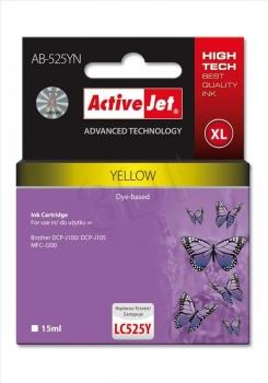 Ink ActiveJet AB-525YN | Yellow | 15 ml | Brother LC525Y