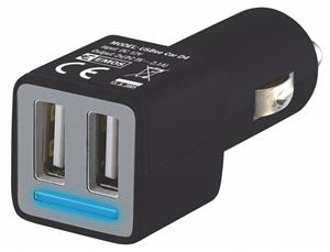 Emos napájecí zdroj USB CL duální 2x 2.4A, do auta