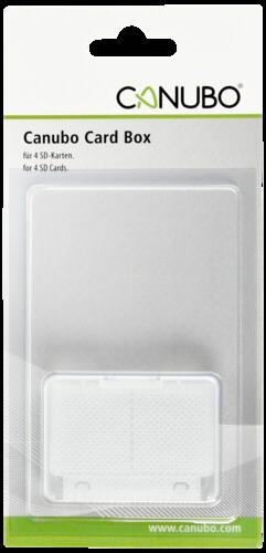 Canubo SD Card Box transparentni pro 4 SD Karty