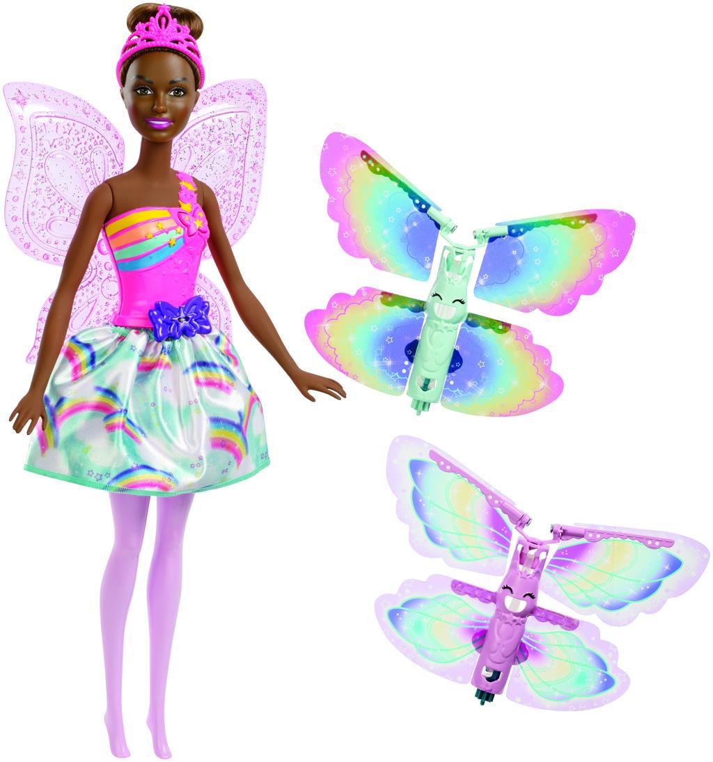 Barbie létající víla s křídly brunetka