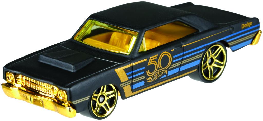 Hot Wheels tématické auto - 50. let výročí black & gold