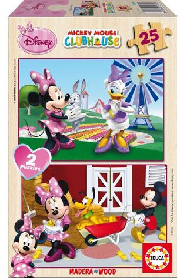 Puzzle dřevěné Minnie 2v1 25 dílků