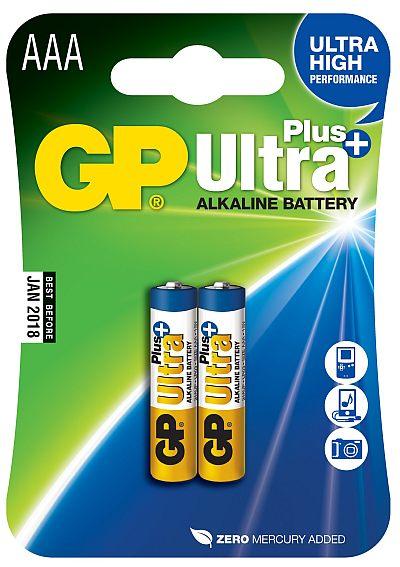 GP AAA Ultra Plus, alkalická - 2 ks