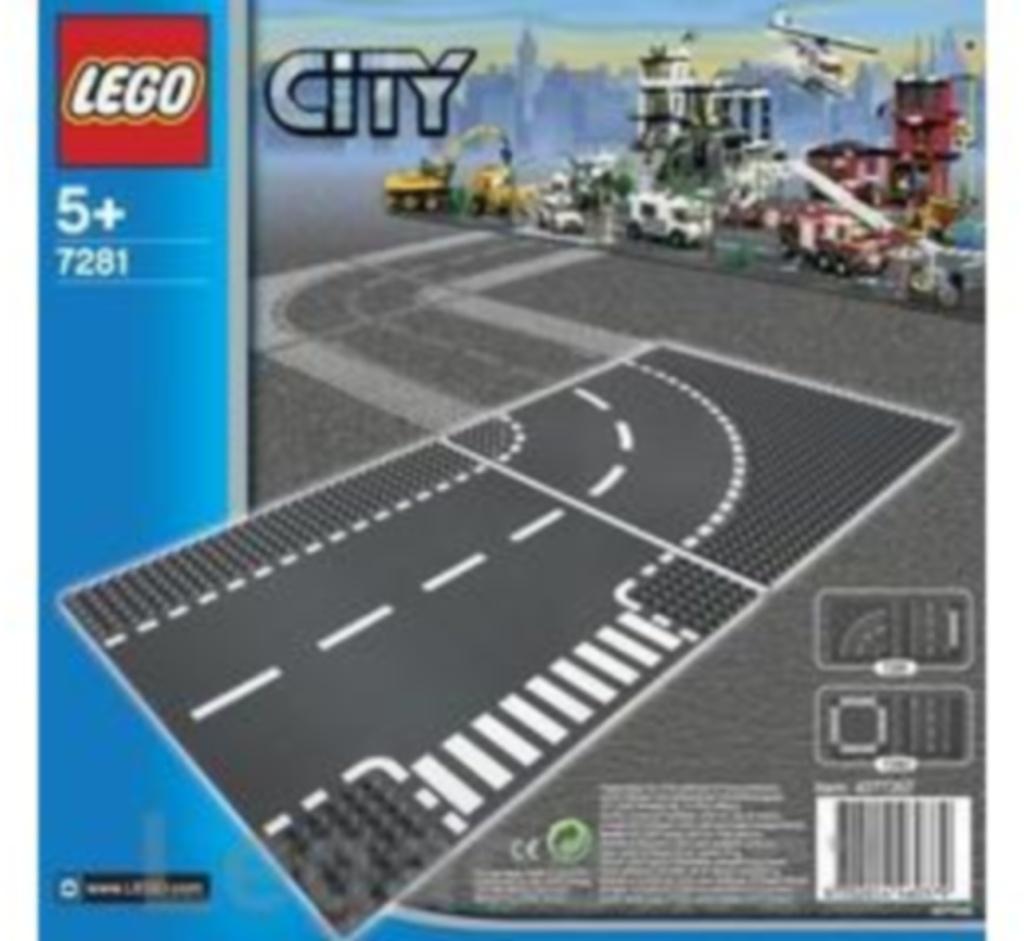 LEGO Zatáčka a křižovatka ve tvaru T (7281)