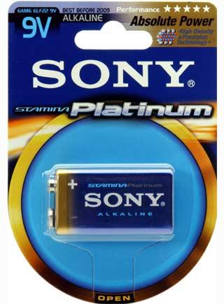 SONY Alkalické baterie 6AM6PTB1D,9V E BLOCK