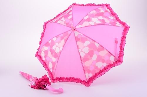 Deštník vystřelovací růžový