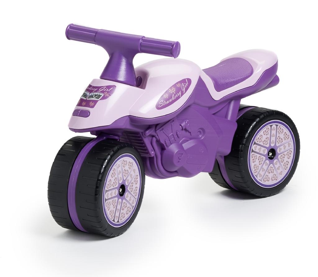 Odstrkovadlo - motorka fialová