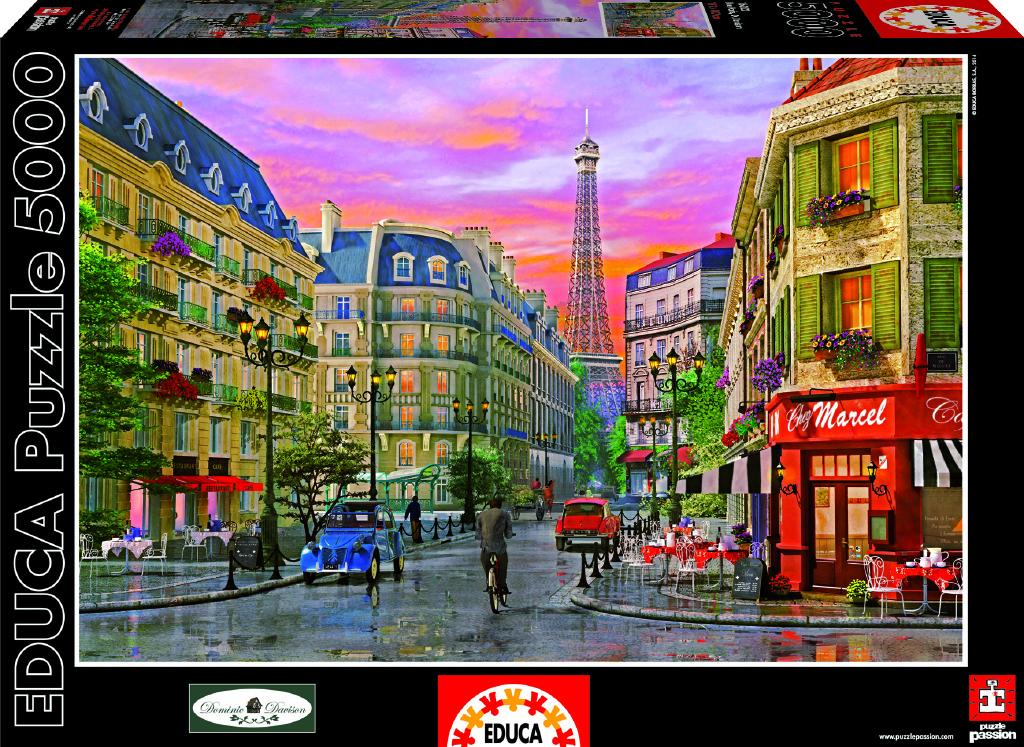 Puzzle Pařížská ulice 5000 dílků
