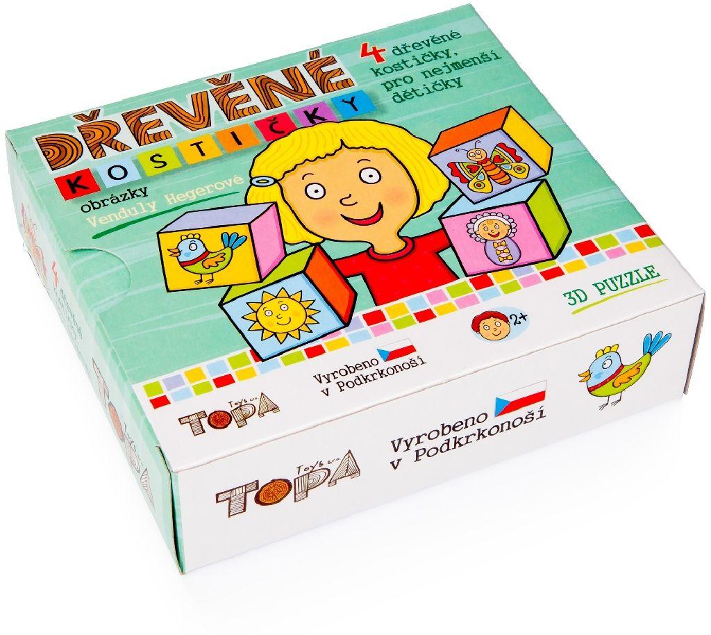 """Dřevěné obrázkové kostky """"Pro nejmenší děti"""""""