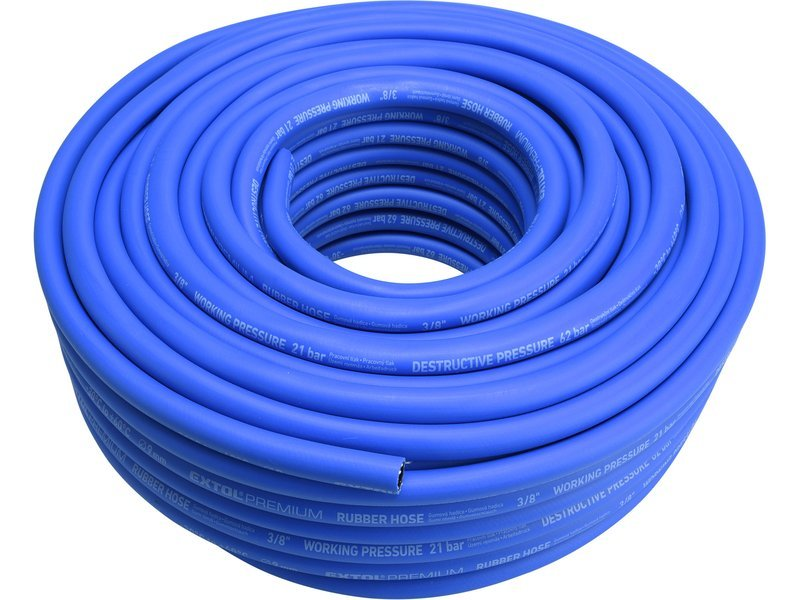 "Hadice vzduchová, guma, 3/8"" (9/15mm), 50m, EXTOL PREMIUM"