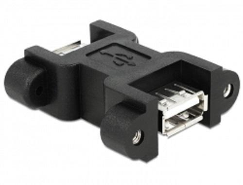 Delock adaptér USB 2.0 A samec > A samice s LED indikátory voltů a ampérů
