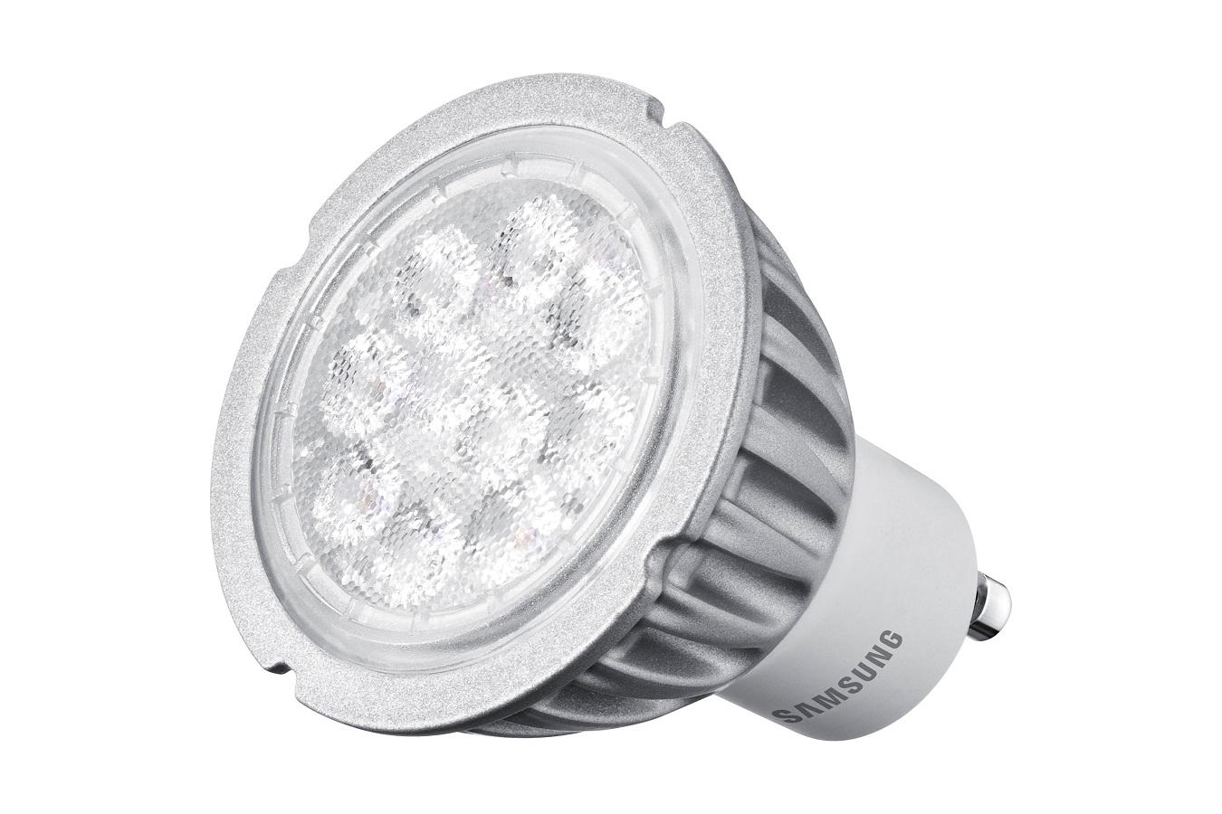 Samsung LED GU10 4,6W 230V 320lm 25st., Teplá bílá