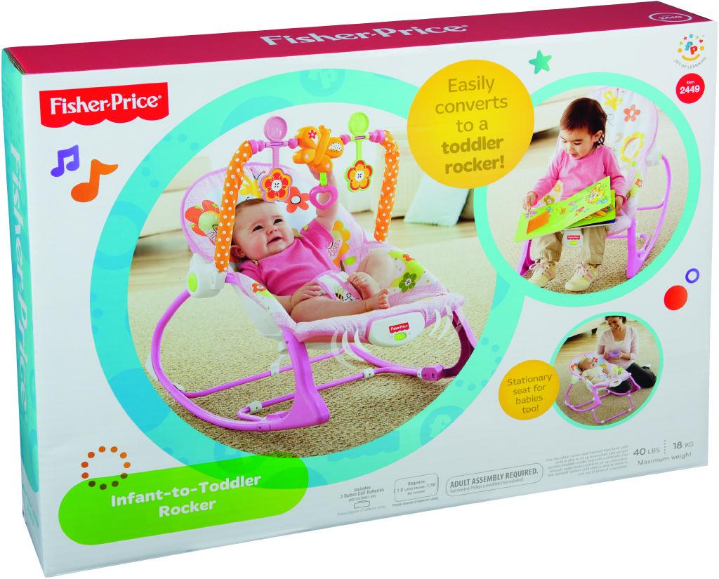 Fisher Price bg sedátko od miminka po batole růžové