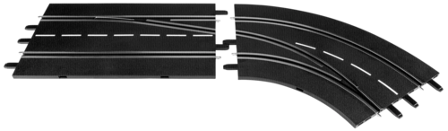 Carrera Digital 132 Zmena drahy vpravo zvenku dovnitr 30365