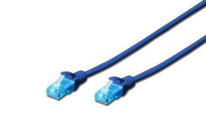 Digitus Ecoline Patch kabel, UTP, CAT 5e, AWG 26/7, modrý 3m, 1ks