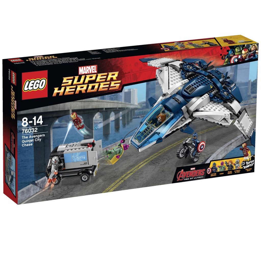 LEGO Super Heroes Městská honička s tryskáčem Avengers Quinjet