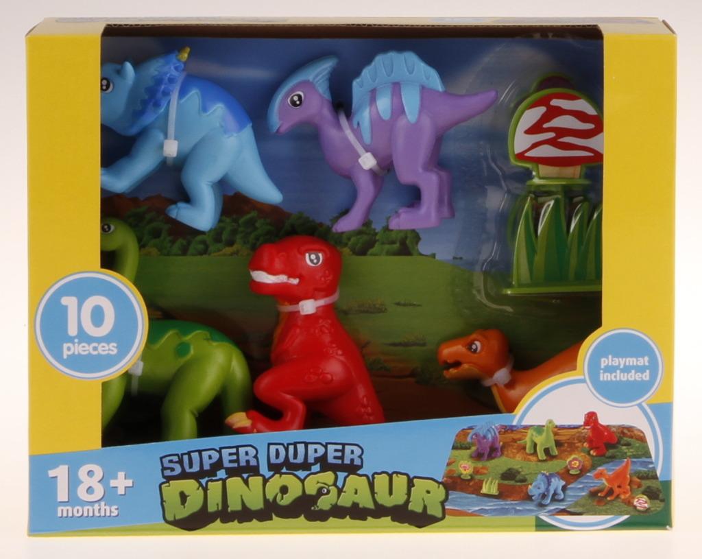 Dinosauři s hrací deskou - 10 ks
