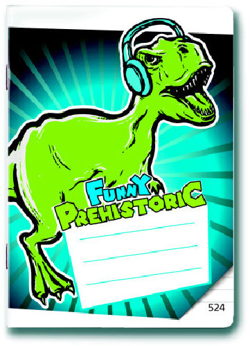 Sešit A5/524 Prehistoric Funny 20 listů linkovaný