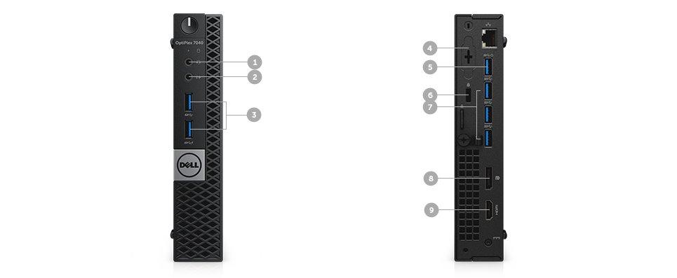 Dell Optiplex 7040U i5-6500T/8G/500GB/HD/HDMI/DP/USB/RJ45/W7P+W10P/3RNBD/Černý