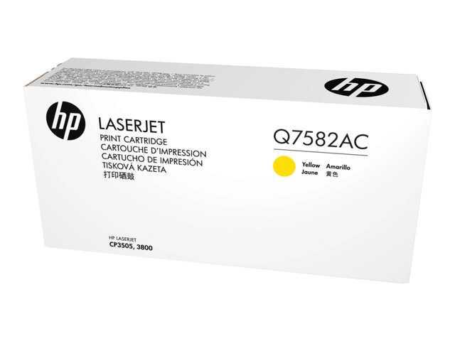 HP Q7582AC Ylw Contr LJ Toner Cartridge