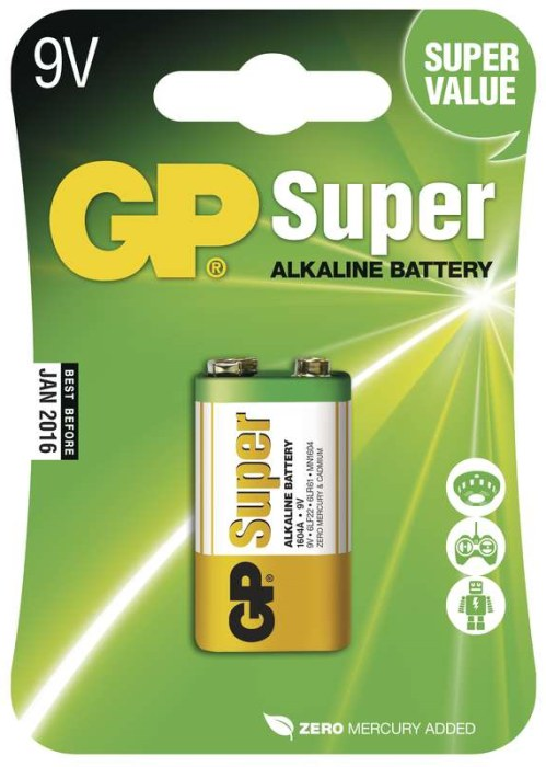 GP 9V Super alkalická - 1 ks