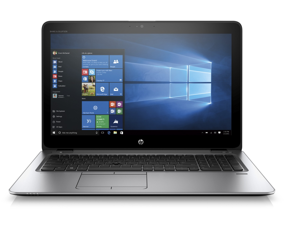 HP EliteBook 755 G3 A10-8700B 15,6 HD CAM, 4GB, 500GB 7.2, WiFi ac, BT, FpR, Win10Pro DWN