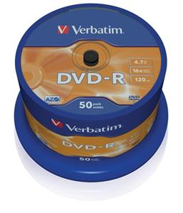Disk DVD-R Verbatim 4,7GB 16x 50-cake