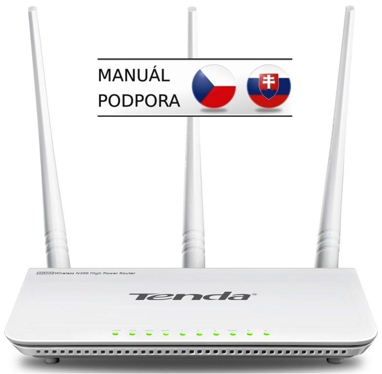 Tenda F3 (F303) Wireless-N Router 802.11 b/g/n, 300Mbps, 3x 5 dBi antény