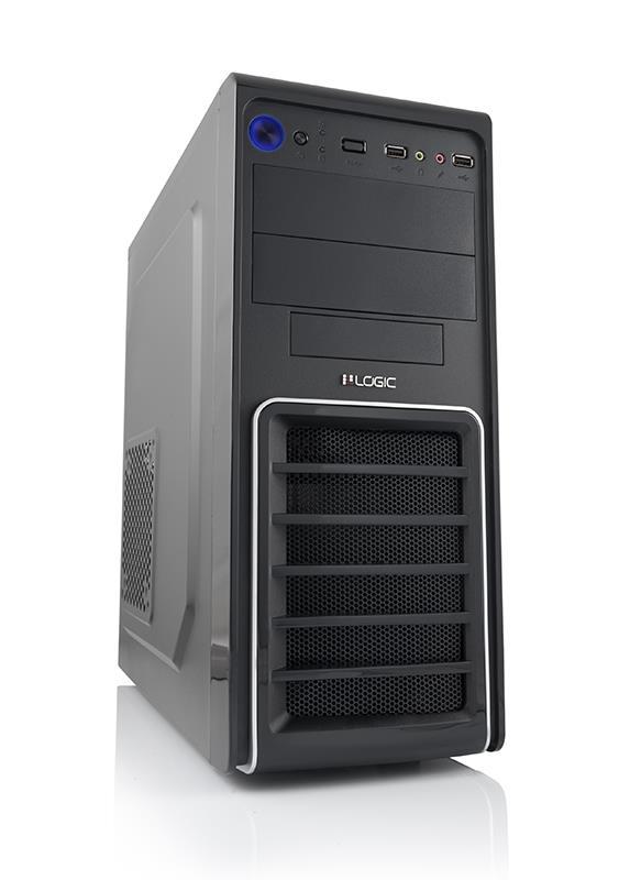 LOGIC PC skříň A33 Midi Tower, zdroj LOGIC 600W ATX PFC, USB 3.0