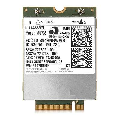 HP lt4120 LTE/EV-DO/HSPA+ WWAN pre PB600G2, EB700/800G3 a ZBook G3