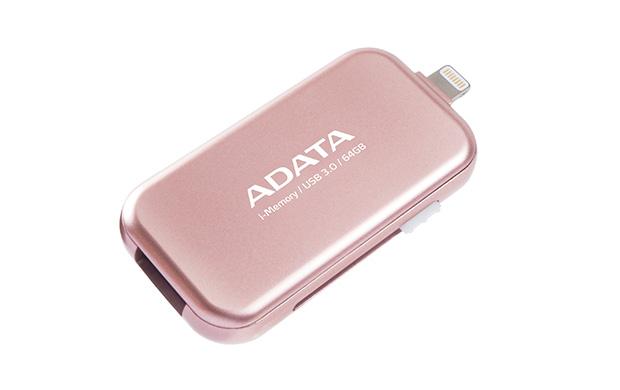 64GB ADATA UE710 USB 3.0 i-memory pro Apple růžová