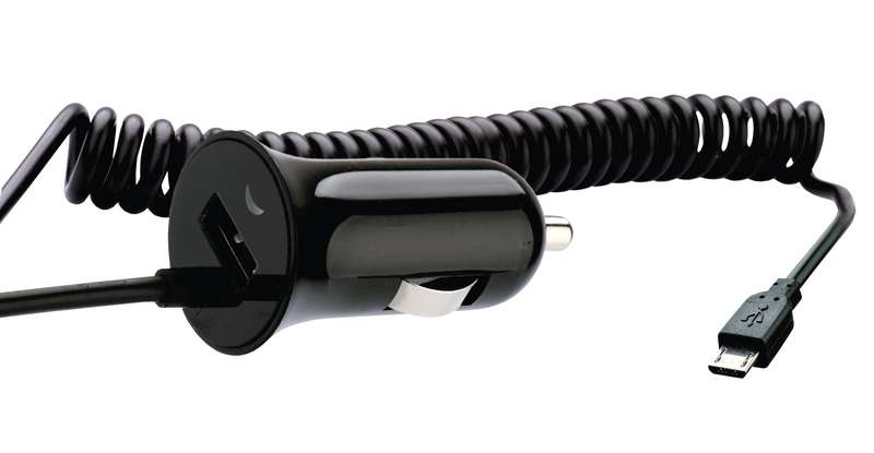 Emos napájecí zdroj USB CL duální 1A (1x USB, 1x microUSB), do auta