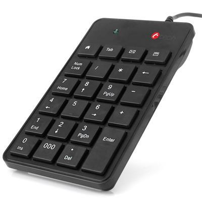 C-TECH KBN-01 klávesnice, numerická, 23 kláves, USB slim black