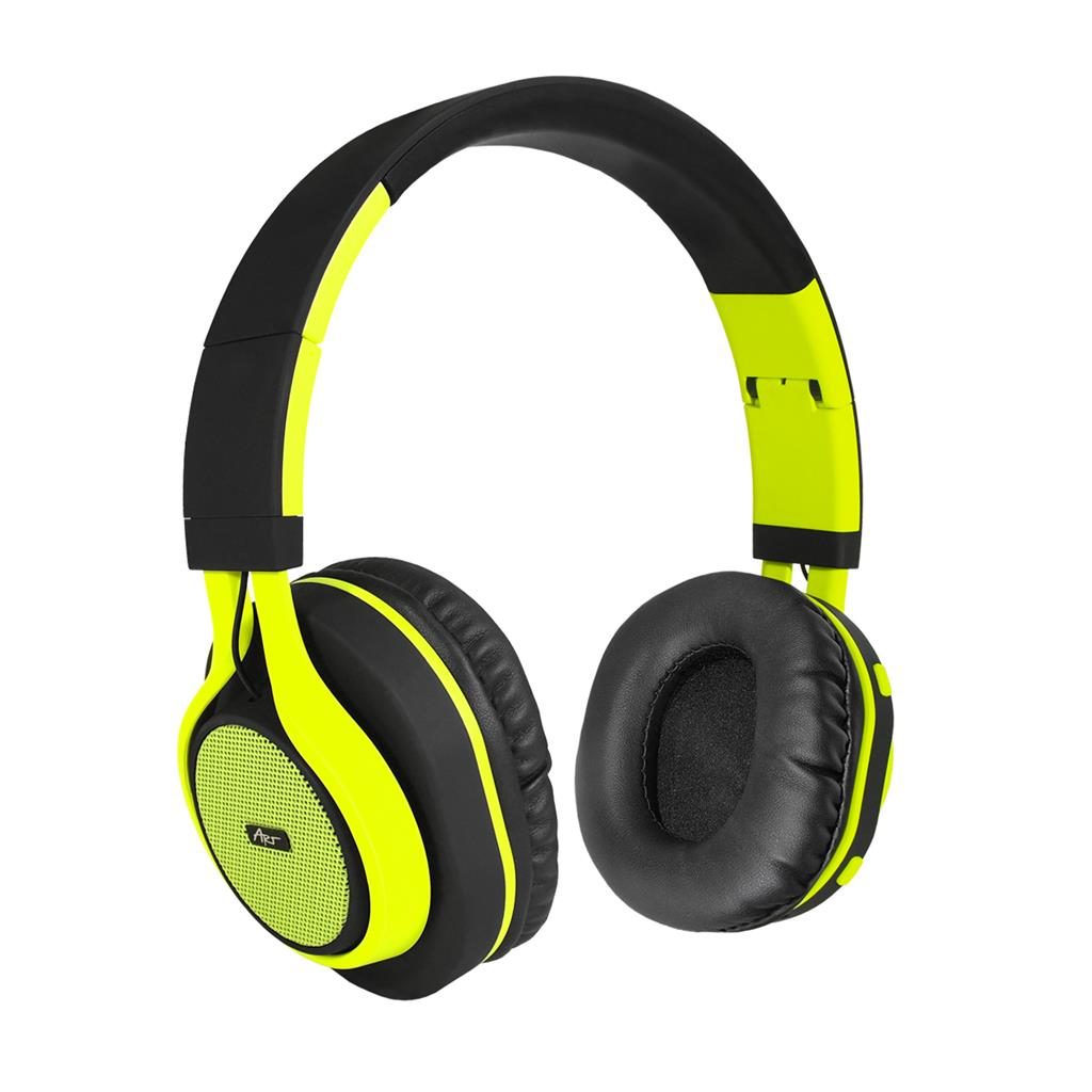 ART Bluetooth Headphones with microphone AP-B04 black/lime