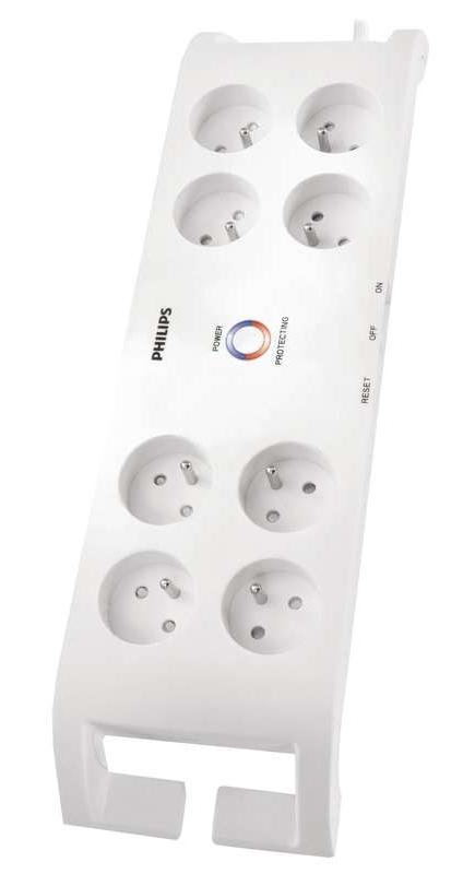 Philips přepěťová ochrana SPN3080B/60 - 8 zásuvek, 2m, bílá