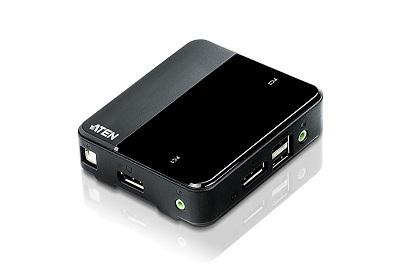 ATEN KVM switch CS782DP, 2-Port USB DisplayPort KVM Switch4K UHD Supported , audio