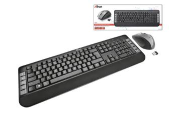 Trust Tecla bezdrátová multimediální klávesnice a myš