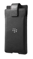 BlackBerry pouzdro kožené pro BlackBerry Priv, klip s otočným čepem, černá