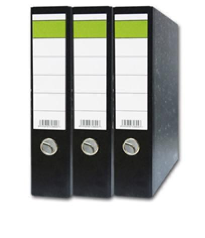 HIT office Pořadač pákový A4 8cm zelený pruh Ekonomik